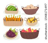fruits and vegetables in the...   Shutterstock .eps vector #1548171497