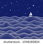 Marine Background. Seamless...