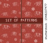 a vector seamless pattern with... | Shutterstock .eps vector #1548237977
