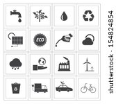 black and white eco icons set. | Shutterstock .eps vector #154824854