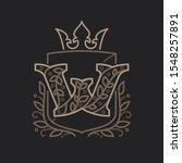 w letter logo consisting of... | Shutterstock .eps vector #1548257891