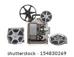vintage film with old projector ... | Shutterstock . vector #154830269