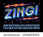 zing  is a happy and fun vector ... | Shutterstock .eps vector #1548305441