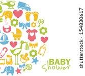 baby icons over white...   Shutterstock .eps vector #154830617