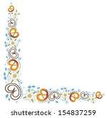colorful oktoberfest tendril... | Shutterstock .eps vector #154837259