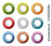 set of bright plastic buttons | Shutterstock .eps vector #154838384
