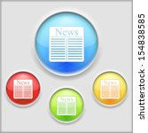 abstract icon of newspaper
