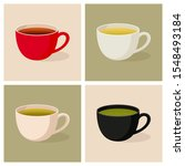 four colorful mugs with...   Shutterstock .eps vector #1548493184