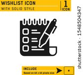 wishlist icon with solid style...