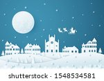 merry christmas and happy new... | Shutterstock .eps vector #1548534581
