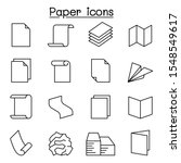 paper   document icon set in... | Shutterstock .eps vector #1548549617