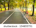 the bicycle on path of park | Shutterstock . vector #154855751