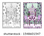 coffee time. illustration... | Shutterstock .eps vector #1548601547