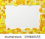 yellow tone toy bricks picture...   Shutterstock . vector #154860155