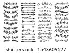 decorative text dividers.... | Shutterstock .eps vector #1548609527