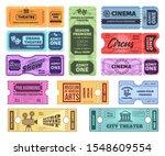 retro tickets. circus  cinema...   Shutterstock .eps vector #1548609554