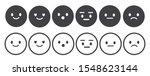 set of outline emoticons  emoji ...   Shutterstock .eps vector #1548623144