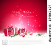 red christmas greeting card...