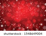 snowflakes and snowfall on a... | Shutterstock .eps vector #1548649004