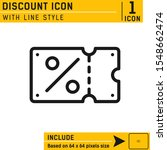 discount icon with line style...