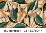 exotic jungle plants... | Shutterstock .eps vector #1548675047