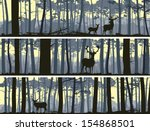 abstract,animals,backdrop,background,banners,bookmark,card,cartoon,cedar,deer,doe,dusk,elk,forest,greenwood