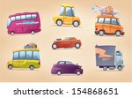 the set of the vector cartoon... | Shutterstock .eps vector #154868651