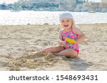 Adorable Toddler Blond Girl In...