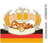 oktoberfest background with... | Shutterstock . vector #154869674