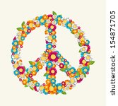 isolated peace symbol made with ... | Shutterstock .eps vector #154871705
