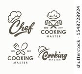 chef  cooking logo template.... | Shutterstock .eps vector #1548728924