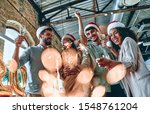merry christmas and happy new... | Shutterstock . vector #1548761204