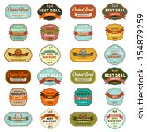 set of vintage retro labels ... | Shutterstock .eps vector #154879259