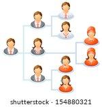 teamwork flow chart. network of ... | Shutterstock . vector #154880321