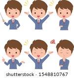 businessman  male  person  pose ...   Shutterstock .eps vector #1548810767
