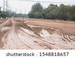Red Mud Road Under Constructio...