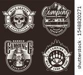 vintage summer camping prints... | Shutterstock . vector #1548820271