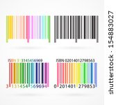 black and colored barcode with... | Shutterstock . vector #154883027