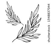 decorative hand drawn leaves ... | Shutterstock .eps vector #1548837044