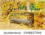 Autumn Watercolor Landscape....