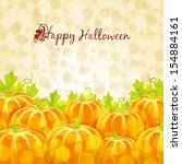 happy halloween greeting card... | Shutterstock .eps vector #154884161