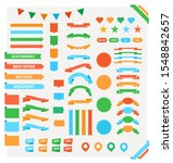 large set of stickers and...   Shutterstock .eps vector #1548842657