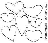 set of empty drawn frames heart ... | Shutterstock .eps vector #1548849467