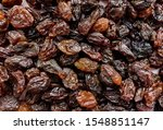 Top View Of Black Raisins ...