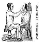 laryngoscopy  showing a doctor...   Shutterstock .eps vector #154885904
