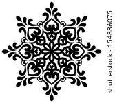 vector snowflake for your design   Shutterstock .eps vector #154886075