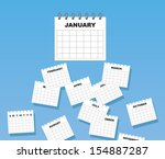 Calendar With Months Of The...