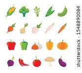 vegetables vector set  with...   Shutterstock .eps vector #1548890084