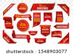 christmas tag isolated. red...   Shutterstock .eps vector #1548903077