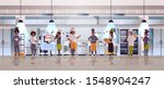 different chefs standing... | Shutterstock .eps vector #1548904247